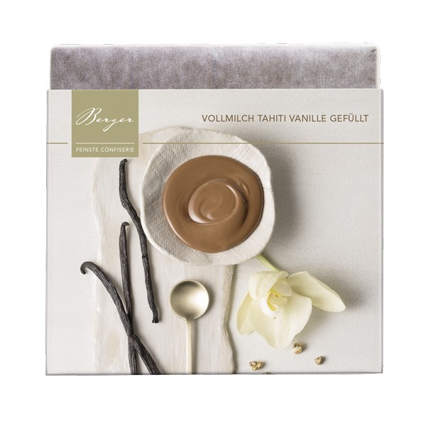 Schokoladentafel Vollmilch Tahiti-Vanille gefüllt