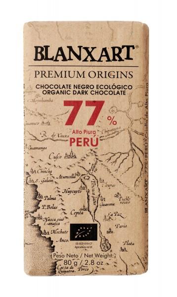 Chocolate negro ecológico 77 % Peru