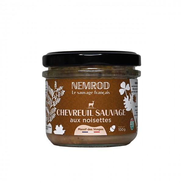 Terrine de Chevreuil sauvage aux noisettes