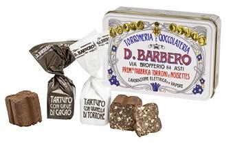 Tartufi misti con Crué di Cacao e con Granella di Torrone